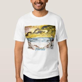 beach sand dunes large, Florida T-shirt