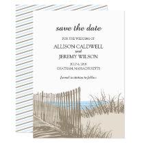 Beach Sand Dunes Wedding Save the Date