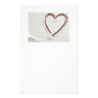 Beach Sand Heart Stationery Paper