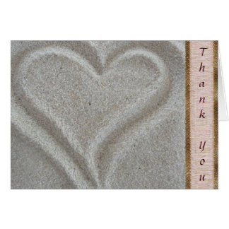 Beach Sand Heart Thank You Card