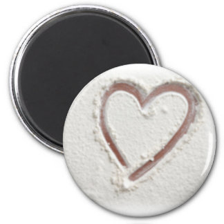 Beach Sand Hearts Magnet