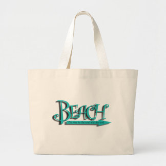 Beach sand-n-surf large tote bag