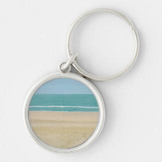 Beach Sand Ocean Scene on Keychains