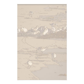 Beach Sand Pipers Art Stationery