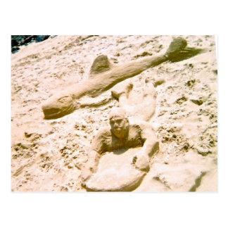 Beach Sand Sculpture Postcard