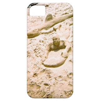 Beach Sand Sculpture Surfer and Shark iPhone SE/5/5s Case