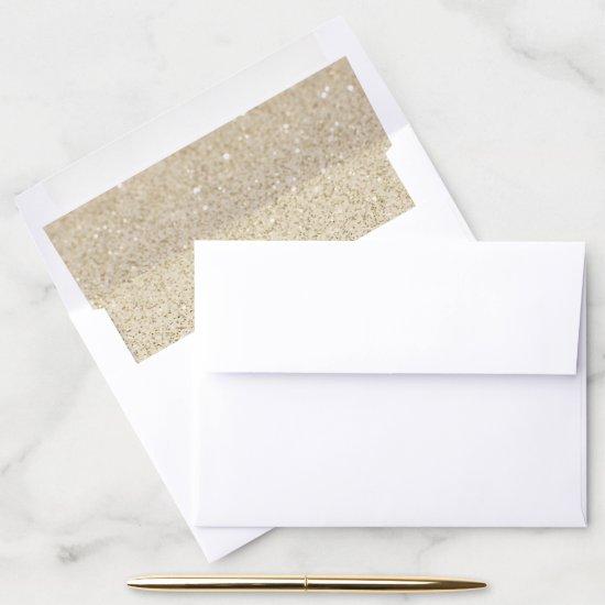 Beach Sand Sparkly Glitter Envelope Liner