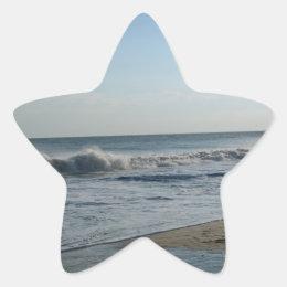 Beach & Sand Star-Shaped Wedding Stickers