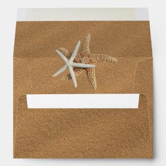 Beach Sand Starfish Couple Custom Envelope