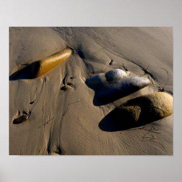 Beach Themed Beach/Sand/Stones/Rocks/Pebbles Poster