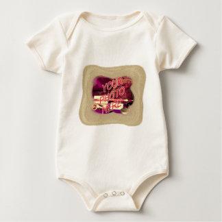 Beach Sand Template Frame Baby Bodysuit