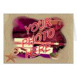 Beach Sand Template Frame Greeting Card