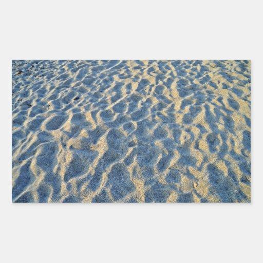 Beach Sand Texture Rectangular Sticker