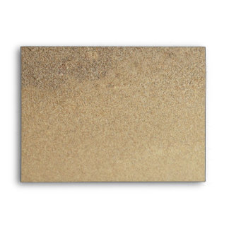 Beach Sand Tropical Decorated A7 Envelopes