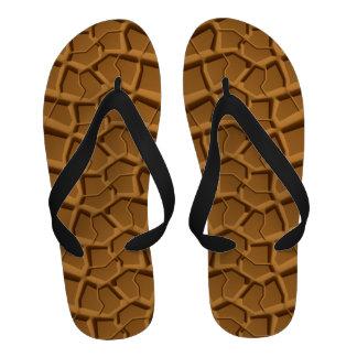 Beach Sand Truck Tire Print Flip-Flops Sandals