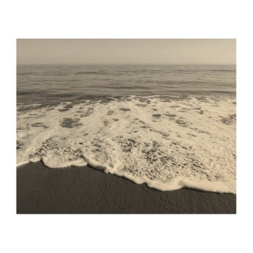 Beach Themed Beach/Sand/Waves Wood Print