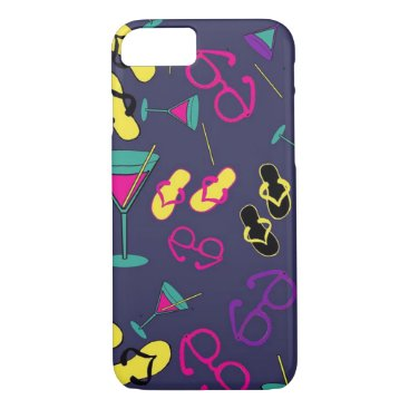 Beach Themed Beach Sandals and Cocktail Drinks Cell Phone Cases
