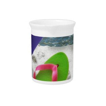 Beach Themed beach sandals beverage pitcher