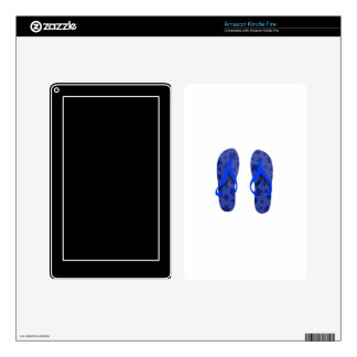 beach sandals blue pattern.png skins for kindle fire