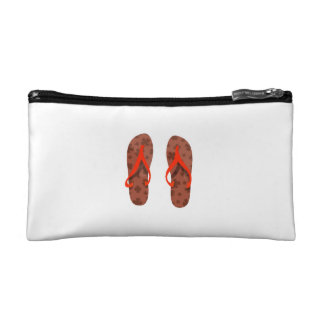 beach sandals brown red pattern.png cosmetic bag