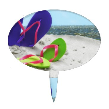 Beach Themed beach sandals cake topper