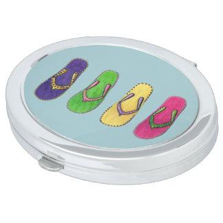 Beach Sandals Compact Mirrors