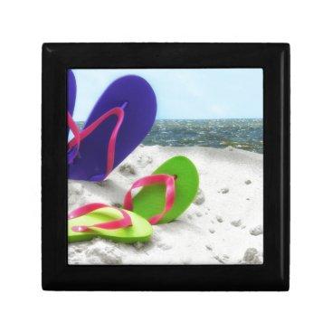 Beach Themed beach sandals gift box