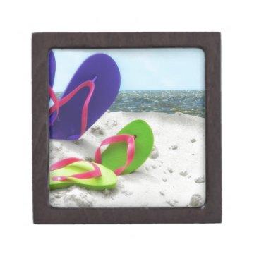 Beach Themed beach sandals jewelry box