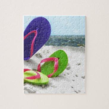 Beach Themed beach sandals jigsaw puzzle