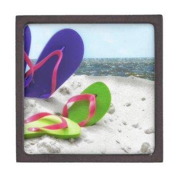 Beach Themed beach sandals keepsake box