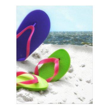 Beach Themed beach sandals letterhead