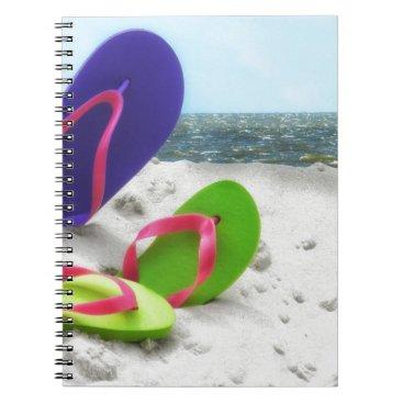 Beach Themed beach sandals notebook