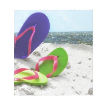 Beach Themed beach sandals notepad