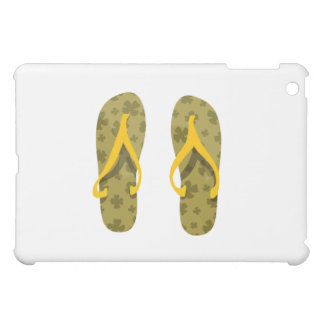 beach sandals olive yellow pattern.png iPad mini cover