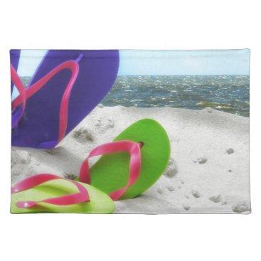 Beach Themed beach sandals placemat