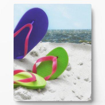Beach Themed beach sandals plaque