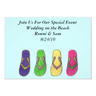 Beach Sandals Wedding Invitations