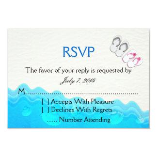 Beach Sandals Wedding RSVP Custom Announcement