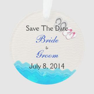 Beach Sandals Wedding Save The Date