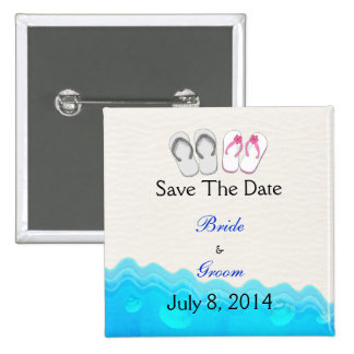 Beach Sandals Wedding Save The Date Pin