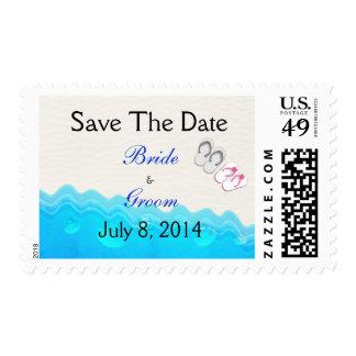 Beach Sandals Wedding Save The Date Stamp