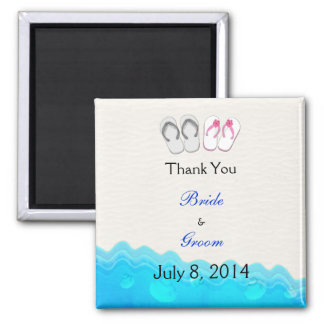 Beach Sandals Wedding Thank You Magnet