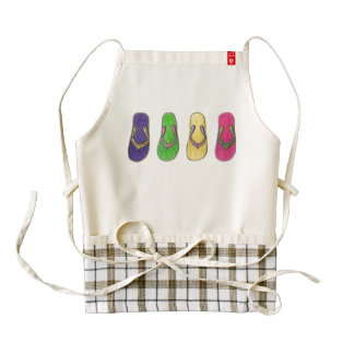 Beach Sandals Zazzle HEART Apron