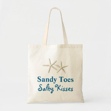 prettyfancygifts Beach Sandy Toes Salty Kisses Budget Tote