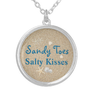 Beach Sandy Toes Salty Kisses Necklace