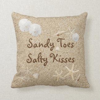 Beach Sandy Toes Salty Kisses Pillow