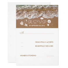 Beach Sandy Waves Summer Wedding Rsvp Card at Zazzle