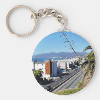 Beach Santa Monica Ocean Keychain