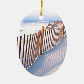 Beach Santa Rosa Island Seashore Ceramic Ornament