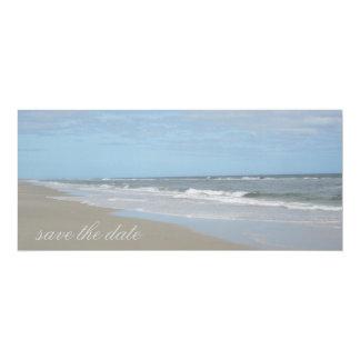 "Beach Save the Date Announcement 4"" X 9.25"" Invitation Card"